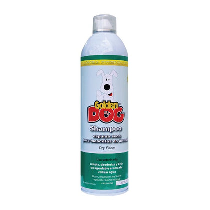 Shampoo Seco Golden Dog Espuma Seca - 400 Ml, Estética, Golden Dog, Mister Mascotas