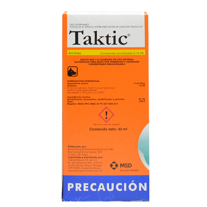 Taktic 40 Ml – MSD Salud Animal
