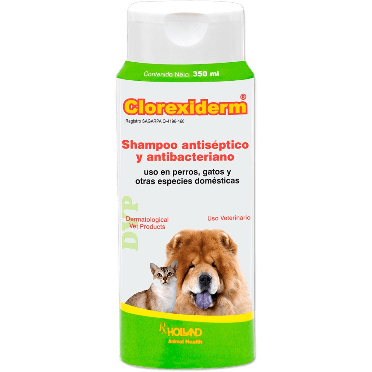 Clorexiderm Holland Para Perros y Gatos Shampoo  De 350 Ml