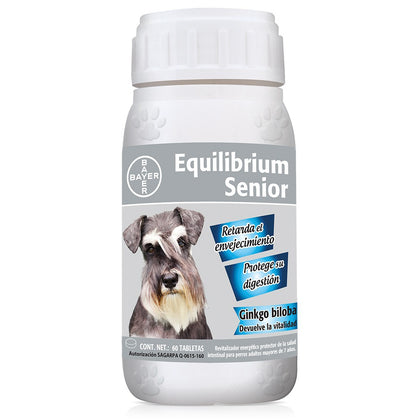 Vitaminas Equilibrium Bayer Senior 60 Tabletas, Salud, Bayer, Mister Mascotas