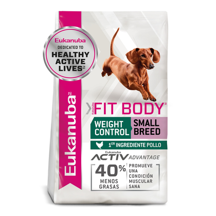 eukanuba weight control small breed fit body control de peso raza pequeña