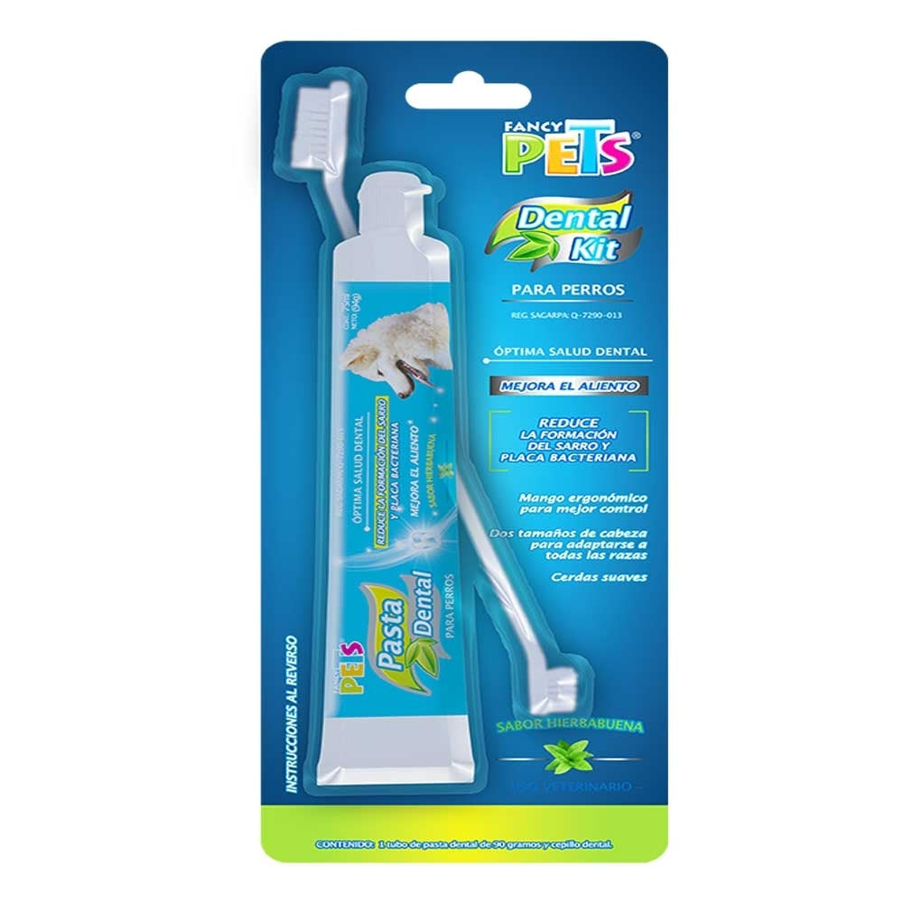 Kit Dental Pasta Y Cepillo Fancy Pets Para Perro