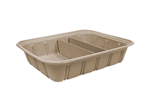 Take Out Half Size (120 oz) Fiber Catering Pan, Adjustable