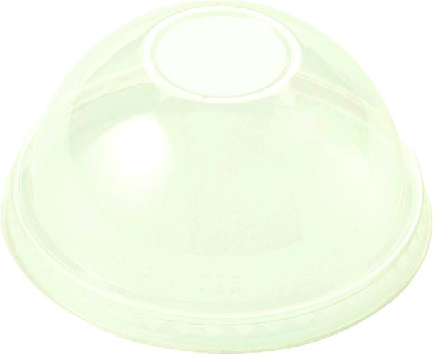 Cups LID PLA - 9Q-24 oz Cold Cups, Dome, No Straw Hole, Clear