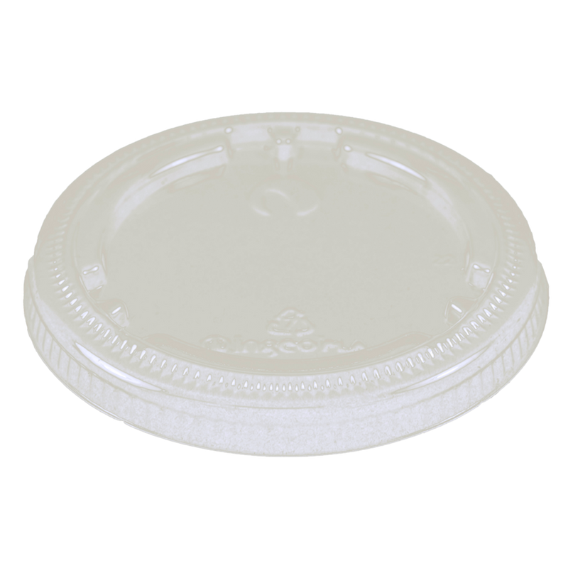 Cups LID PLA - 4 oz, Flat, Clear