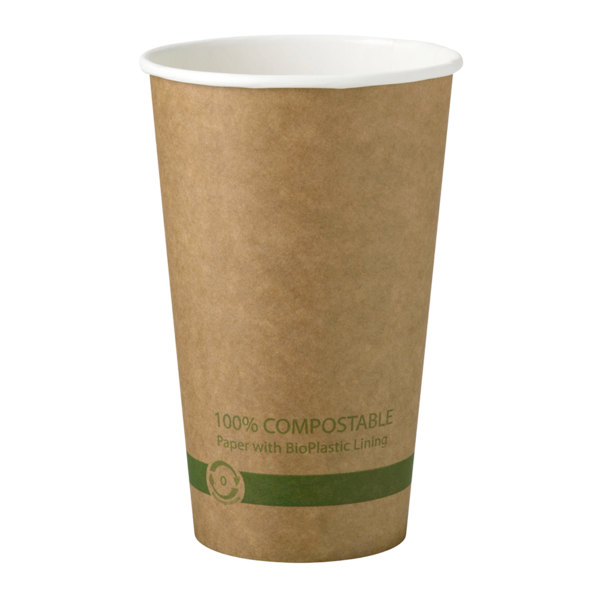 Cups 16 oz Paper Hot Cup - Kraft