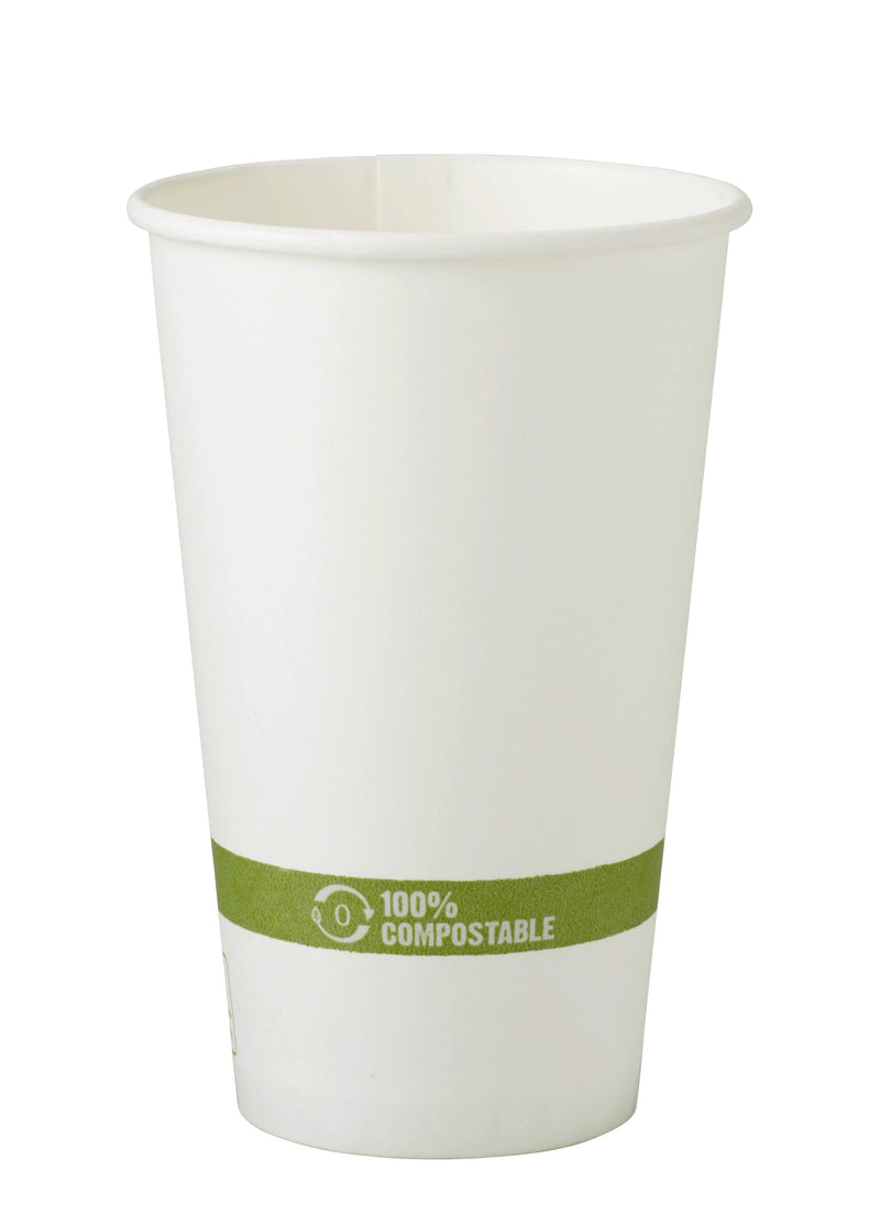 Cups 16 oz Paper Hot Cup - White