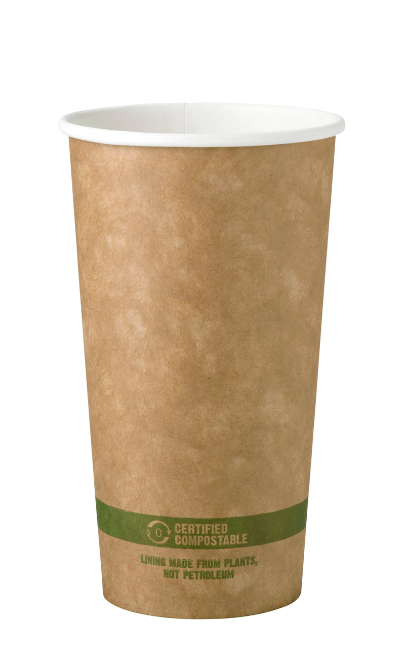 Cups 20 oz Paper Hot Cup - Kraft
