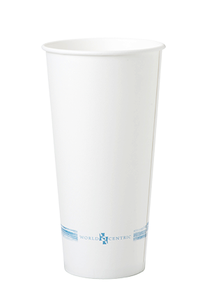 Cups 22 oz Paper Cold Cup, White