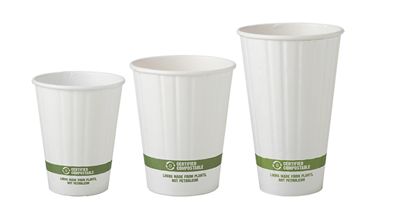 Cups 8 oz Paper Hot Cup, Double Wall, White