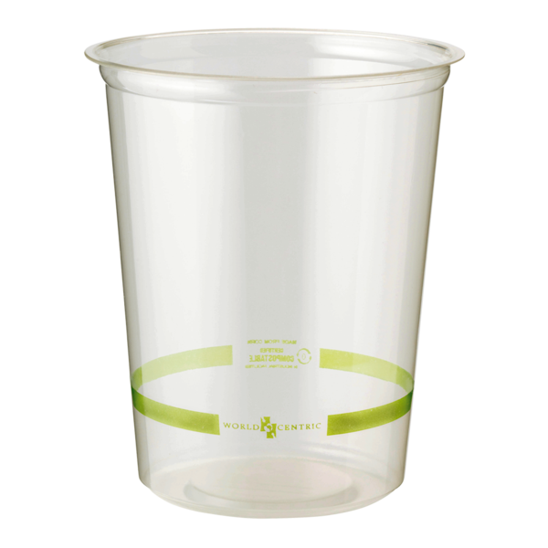Take Out 32 oz Round Deli, Clear