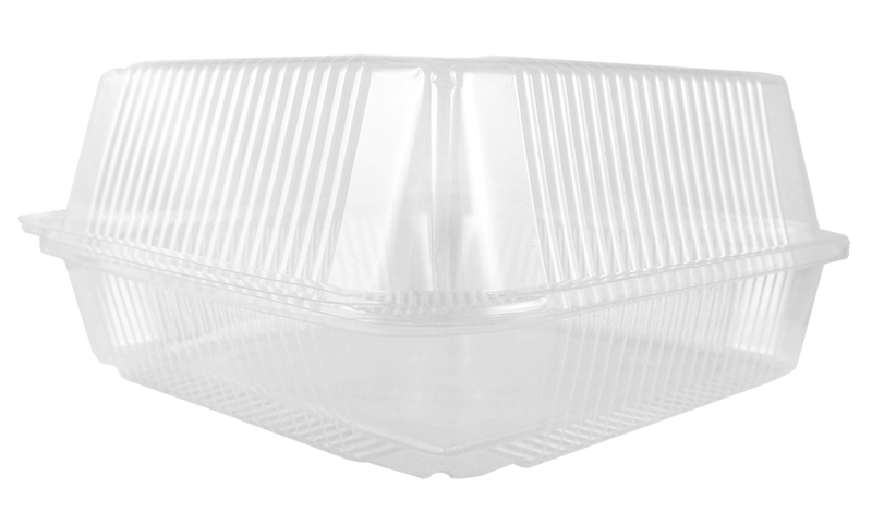 "Take Out 7x7x3"" Hinged Clamshell, Clear"