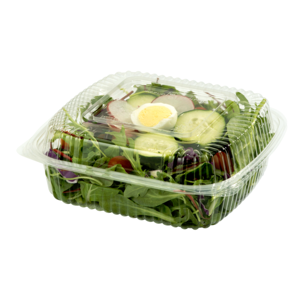 "Take Out 8x8x3"" Hinged Clamshell, Clear"