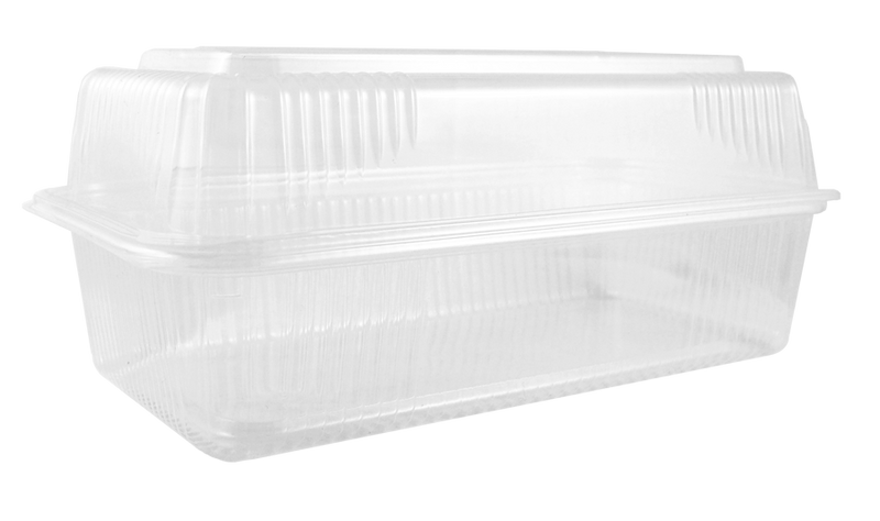 "Take Out 9x5x3"" Hinged Clamshell, Clear"
