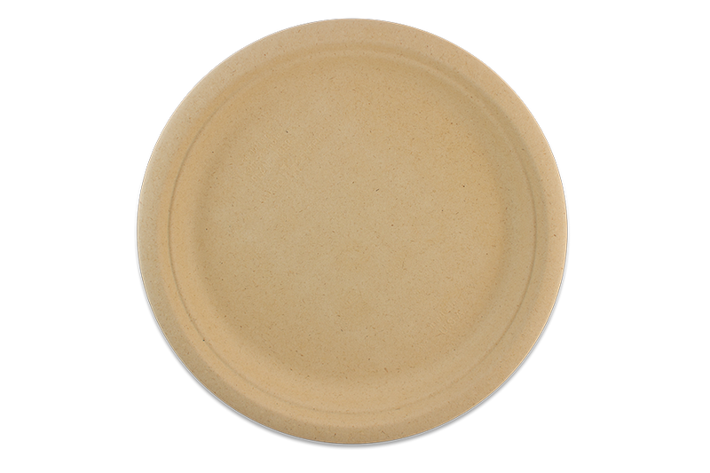 "Take Out Containers: 9"" Silver Grass Plate"
