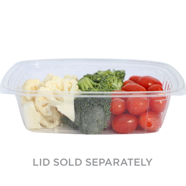 Take Out 24 oz Rectangular Deli, Clear