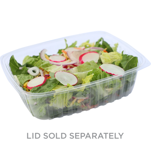 Take Out 48 oz Rectangular Deli, Clear