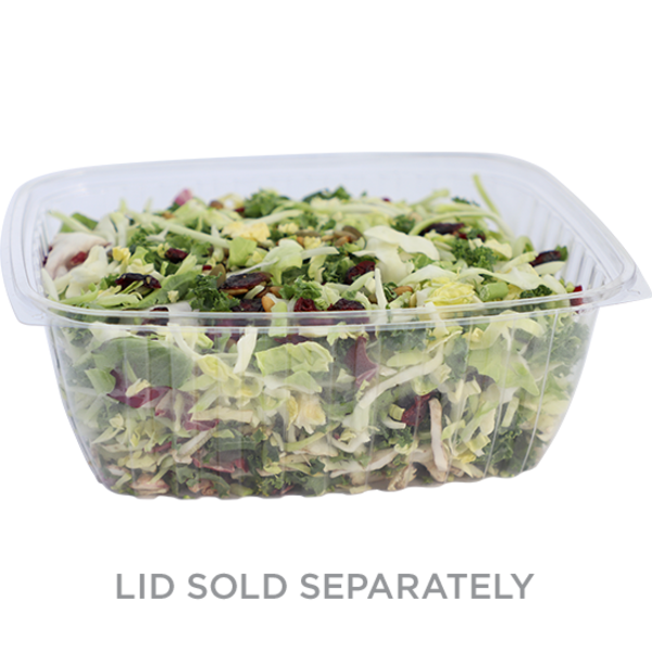 Take Out 64 oz Rectangular Deli, Clear
