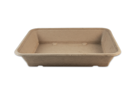 "Take Out 9.4x7x1.8"" (36 oz) Fiber Tray"