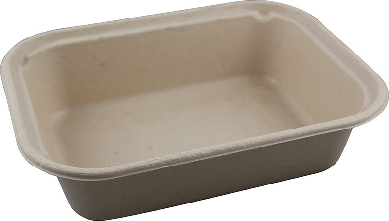 "Take Out 10x7.5x2.5"" (60 oz) Fiber Tray"