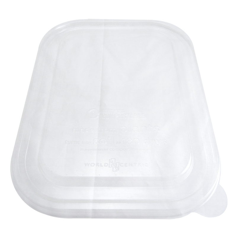 "Take Out LID PLA - 10x7.5"" Fiber Tray, Clear"
