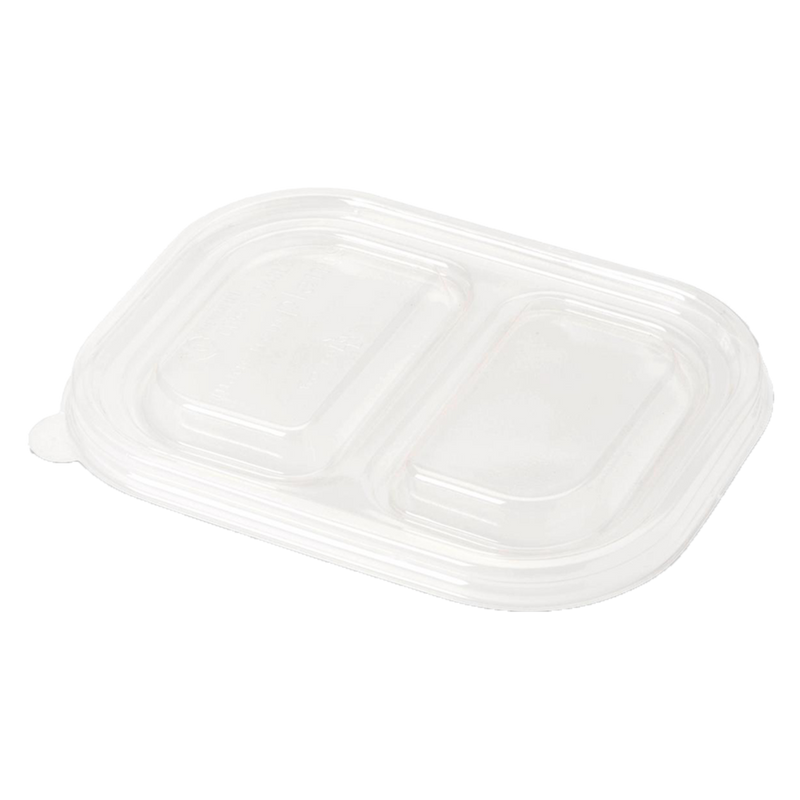 "Take Out LID PLA - 8x6"" Fiber Tray, Clear"