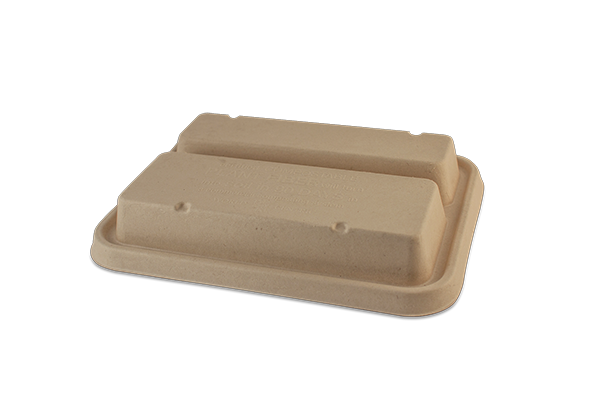 "Take Out Containers: LID Fiber - 9.3x7.1"" Fiber Tray, 2-Compt"