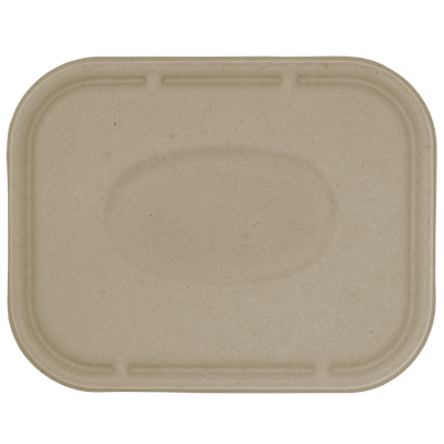 "Take Out LID Fiber - 10x7.5"" Fiber Tray"
