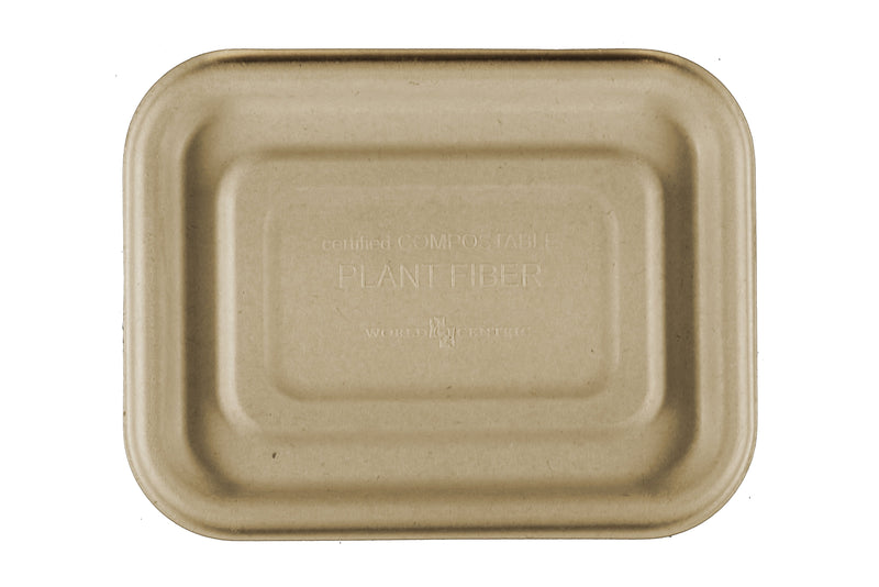 "Take Out LID Fiber - 6.5x5"" Fiber Tray"