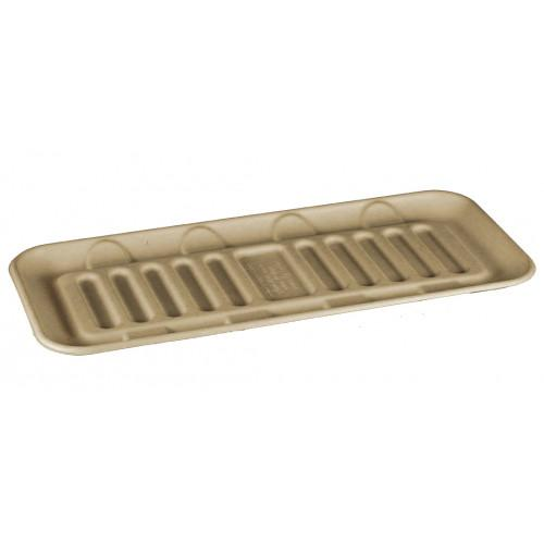 "Take Out Containers: 15x6.5x3"" Fiber Tray"