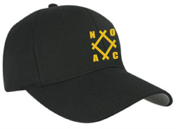 NOAC - Nu-Fit Pro-Style Collection Fitted Back Hat Black