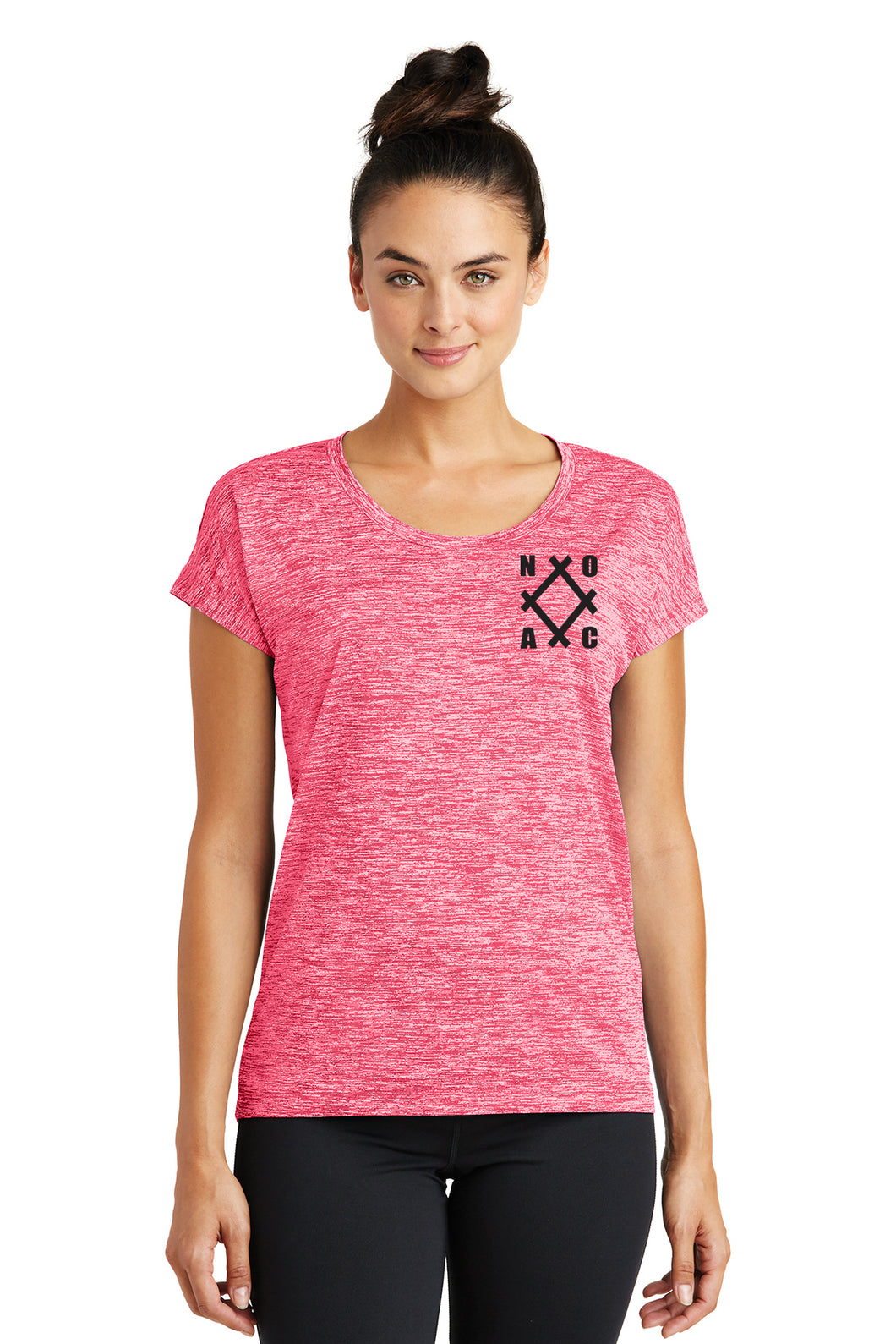 NOAC - Ladies PosiCharge® Electric Heather Sporty Tee