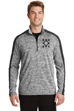 NOAC -  PosiCharge® Electric Heather Colorblock 1/4-Zip Pullover