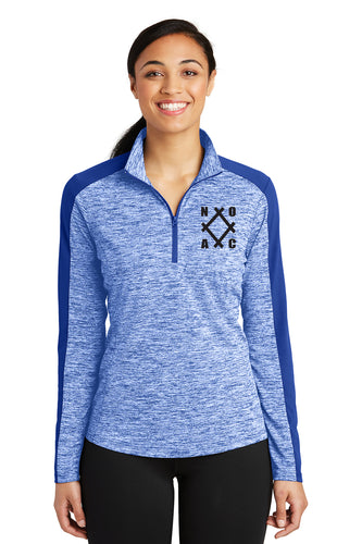 NOAC - Ladies PosiCharge® Electric Heather Colorblock 1/4-Zip Pullover