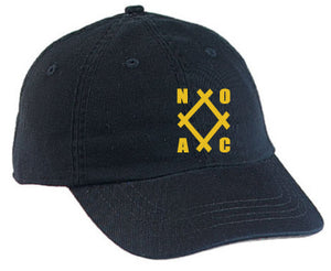 NOAC - Black Cap with Antique Gold Logo