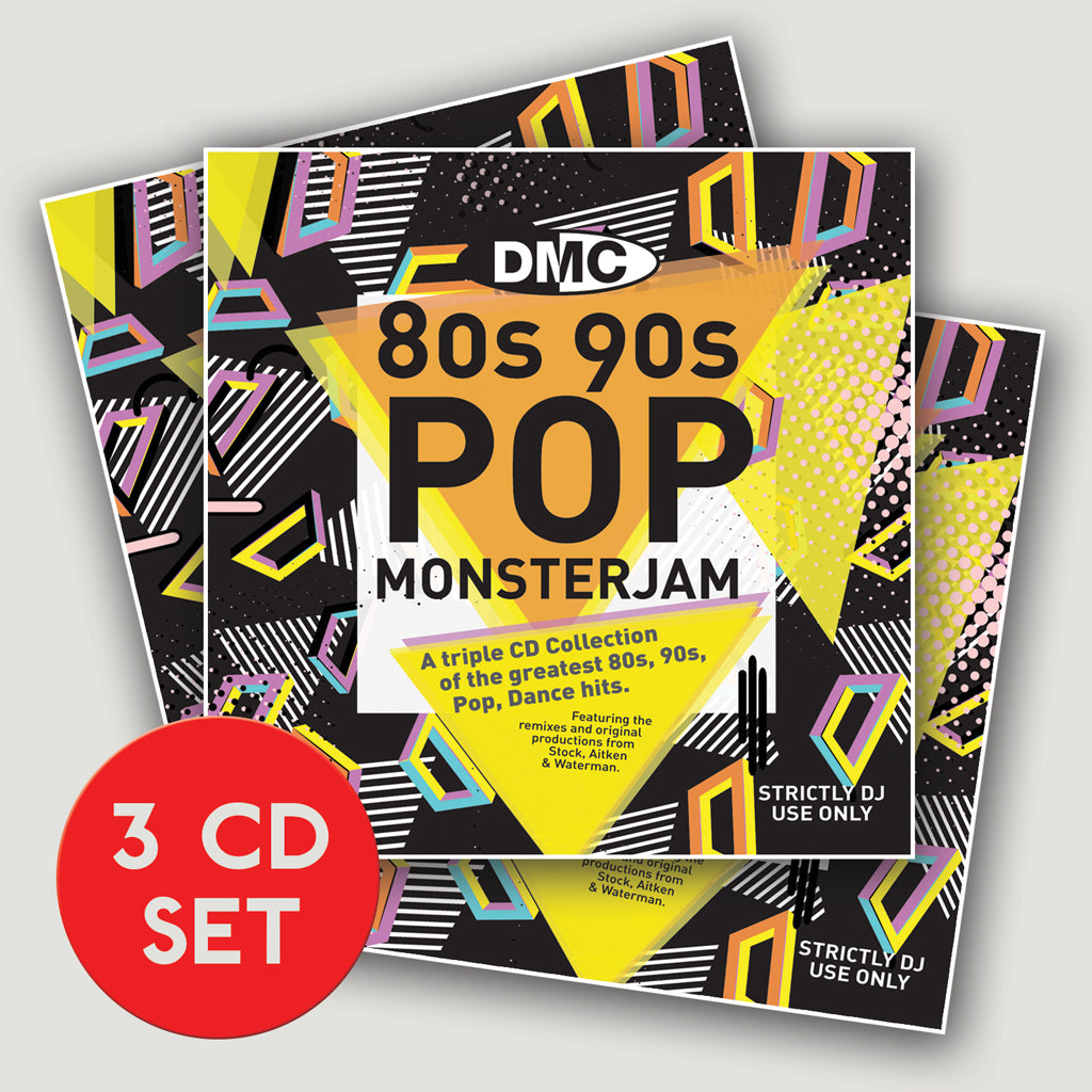 Dmc dmc 80s 90s pop monsterjam 3 x cd dmc world store Best 80s house remixes