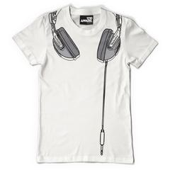FLASH SALE !! - Technics Headphones T-shirt - White