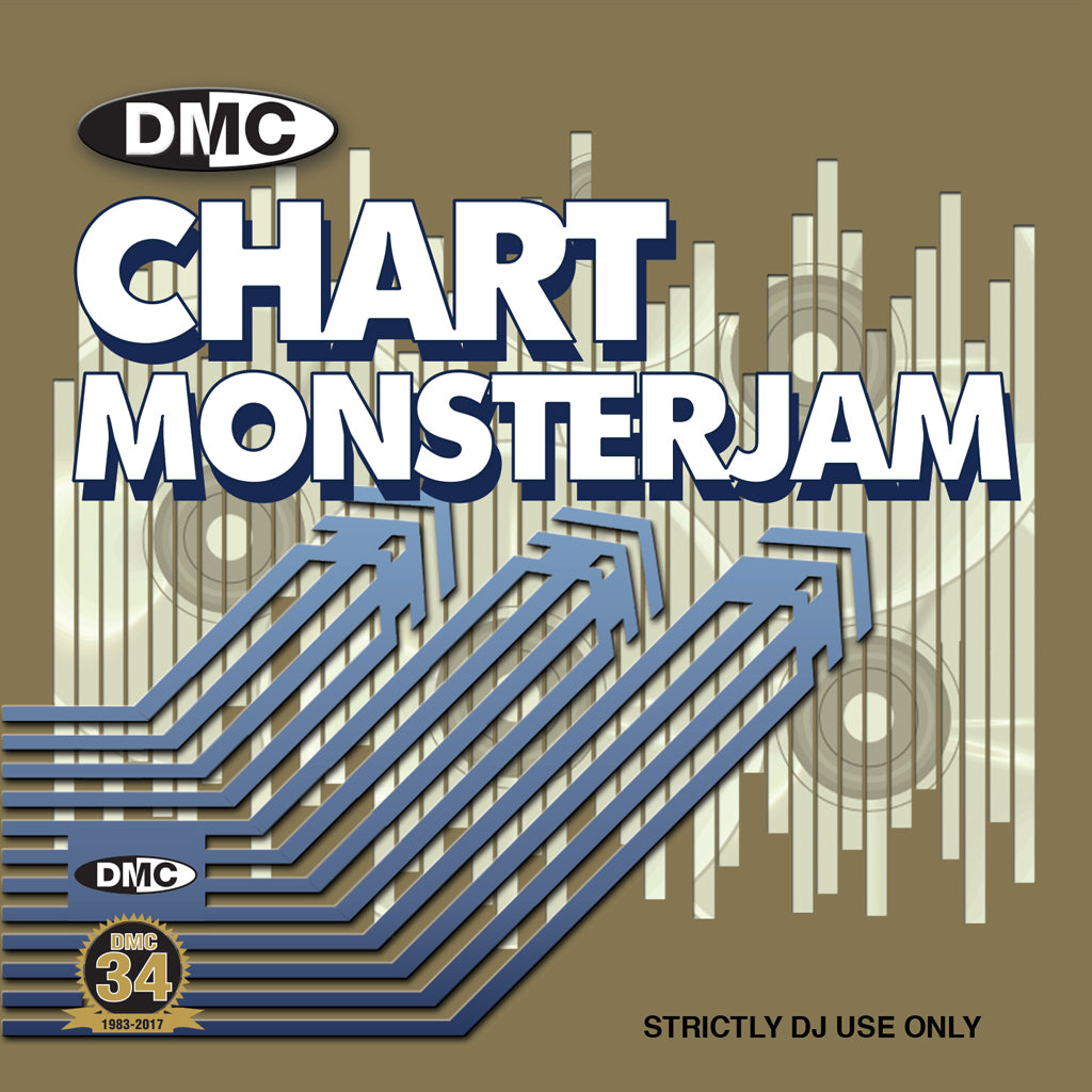 DMC DJ SUBSCRIPTION - 12 MONTHS – CHART MONSTERJAM - Monthly CD - UK ONLY - plus only 1 postage payment, 11 months FREE postage - A DJ friendly mix of chart hits from warm up to floorfillers.
