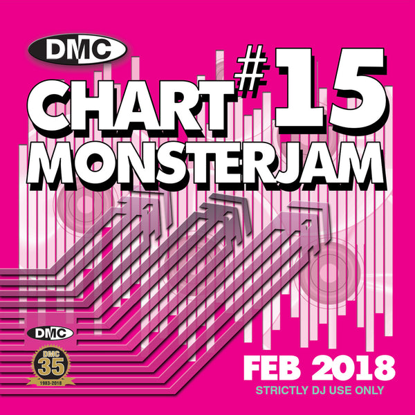 DMC Chart Monsterjam 15 – End February 2018 - A dj friendly mix of chart hits