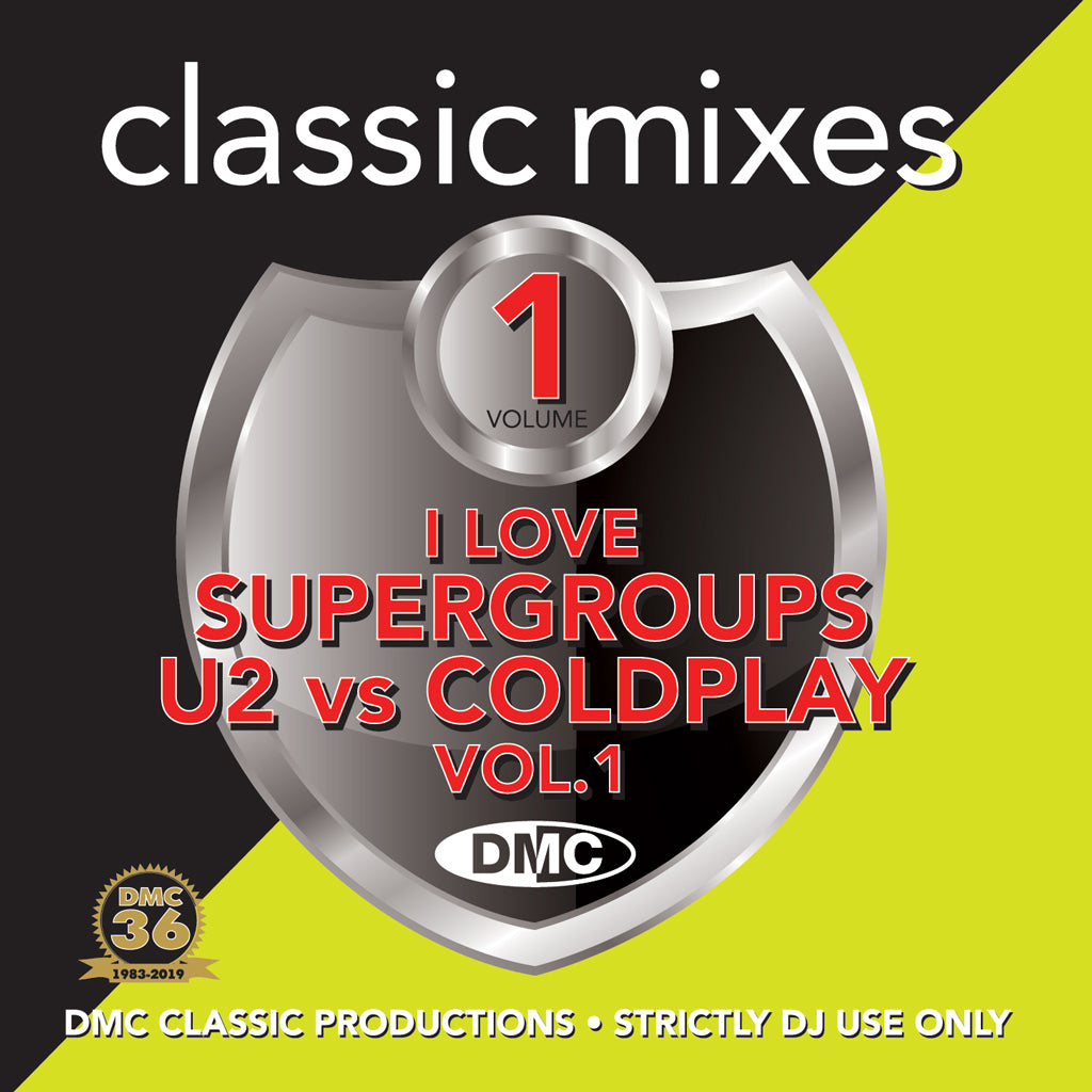 Check Out DMC Classic Mixes - I LOVE SUPERGROUPS U2 vs COLDPLAY Vol. 1 On The DMC Store