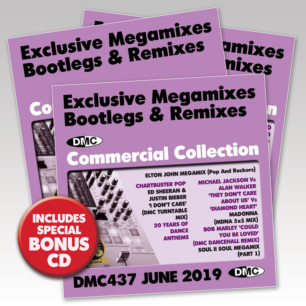 Check Out DMC COMMERCIAL COLLECTION 437 -  Exclusive Megamixes, Remixes & Two Trackers - TRIPLE CD - June 2019 release On The DMC Store