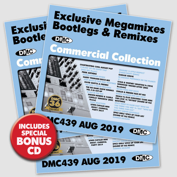 DMC COMMERCIAL COLLECTION 439 - Exclusive Megamixes, Remixes & Two Trackers  (3 x CD)  - August 2019 release)