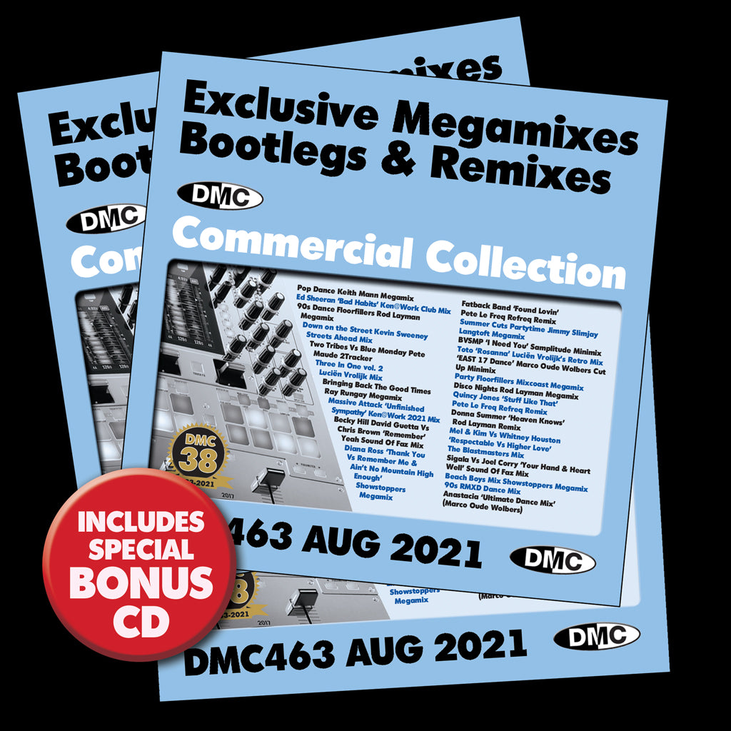 Check Out DMC COMMERCIAL COLLECTION 463 - 3 x CD ISSUE - August 2021 release - out now On The DMC Store