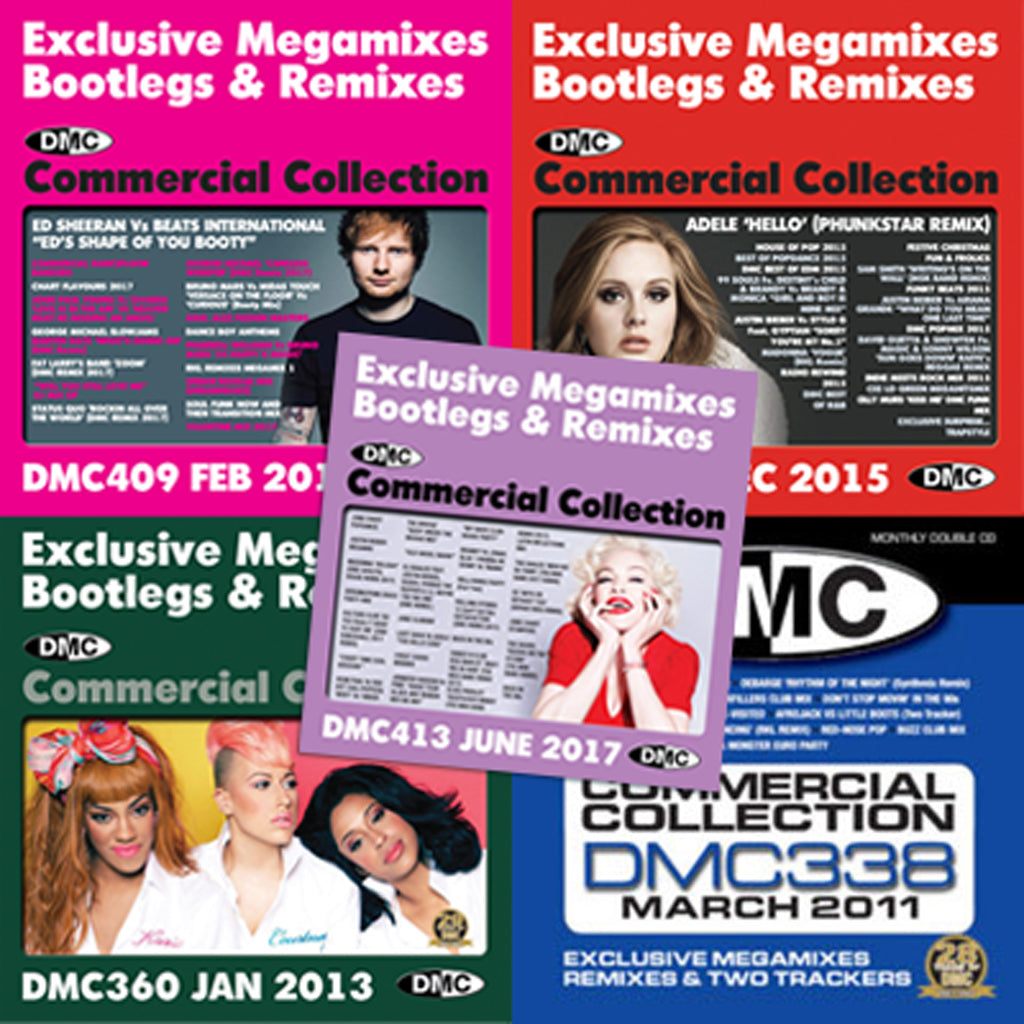 DMC COMMERCIAL COLLECTION OFFER 55 - Commercial Collection 413 (3xCD), 409, 395, 360 & 338
