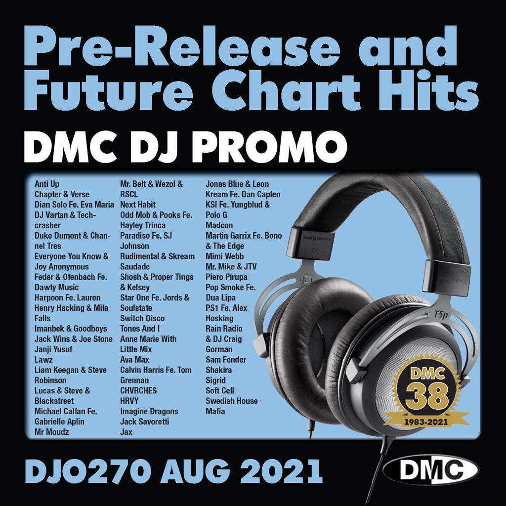 Check Out DMC DJ PROMO 270 - 2 x CD - August 2021 release - out now On The DMC Store