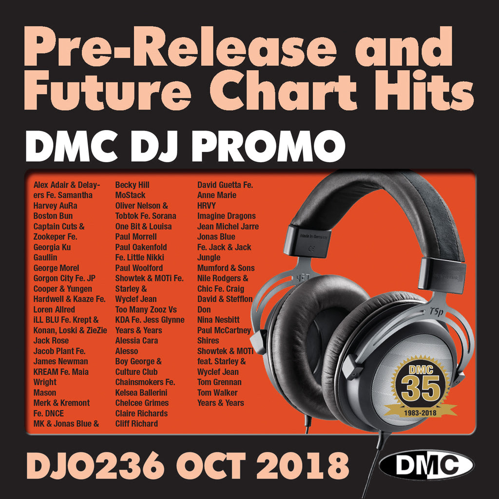 Check Out DJ PROMO 236  PRE RELEASE AND FUTURE CHART HITS! - OCTOBER 2018 On The DMC Store