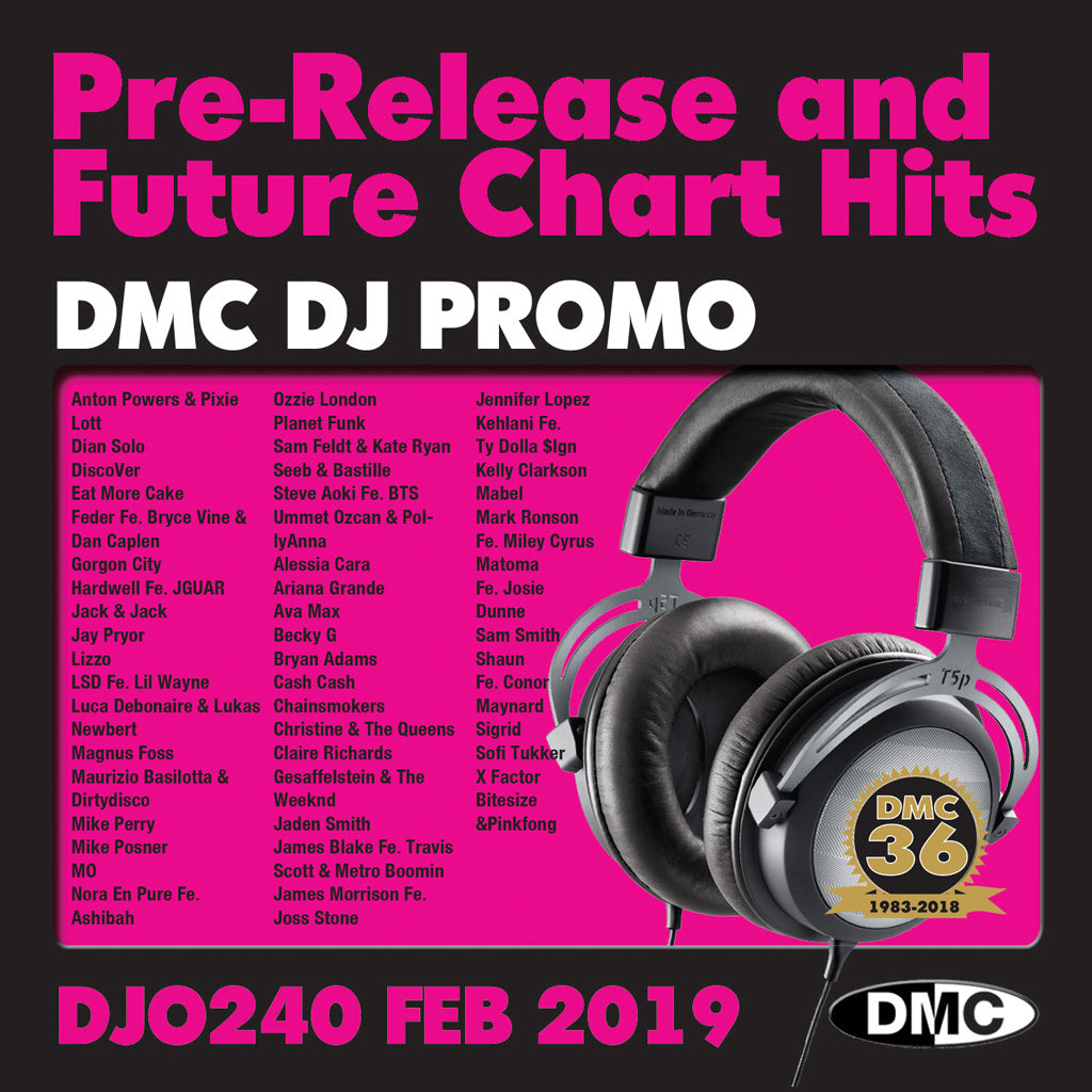 DMC DJ PROMO 240-  Releases And Future Chart Hits! - February 2019 Release