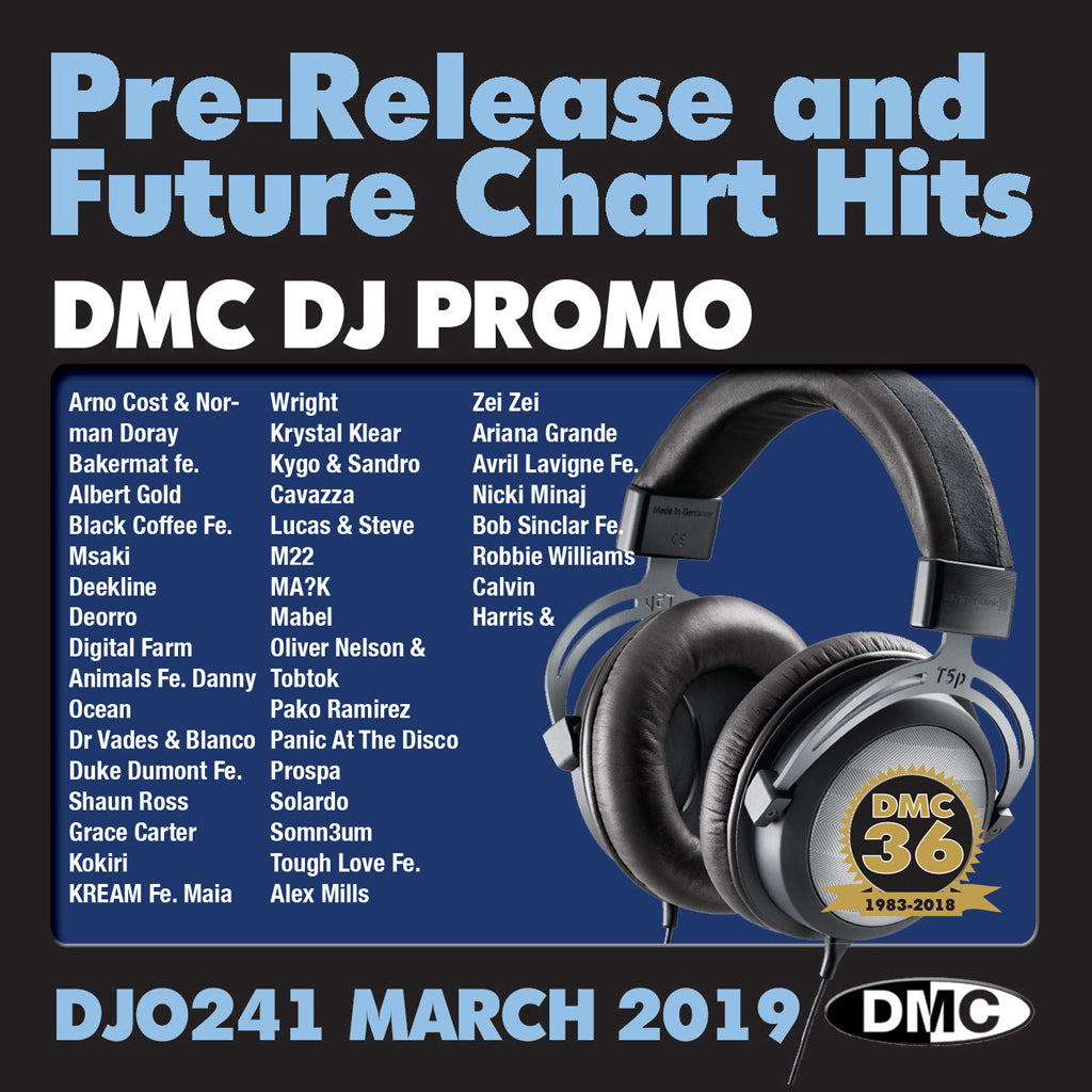 DJ PROMO 241 -  PRE RELEASE AND FUTURE CHART HITS! - March 2019 release