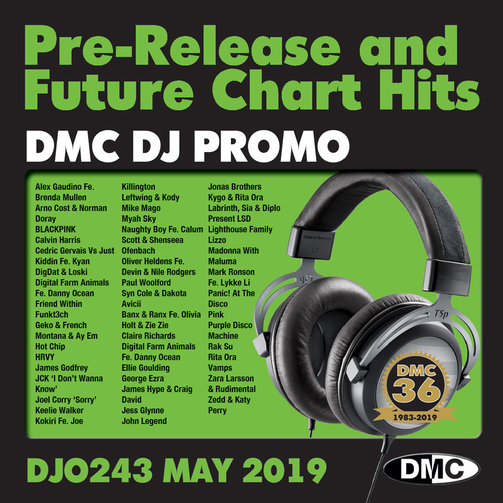 DMC DJ PROMO 243  - PRE RELEASE AND FUTURE CHART HITS - Release May 2019