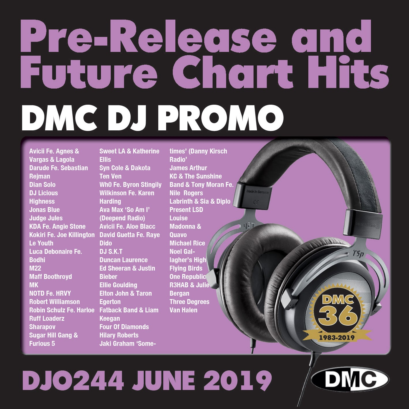 DJ PROMO 244 -  PRE RELEASE AND FUTURE CHART HITS  (2 x cd) - June 2019 release